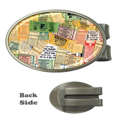Retro Concert Tickets Money Clip (oval) by StuffOrSomething