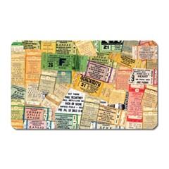 Retro Concert Tickets Magnet (rectangular) by StuffOrSomething