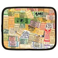 Retro Concert Tickets Netbook Sleeve (large) by StuffOrSomething