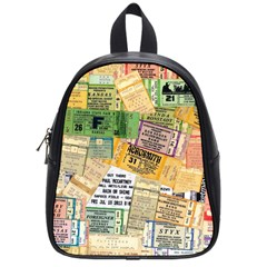 Retro Concert Tickets School Bag (small) by StuffOrSomething
