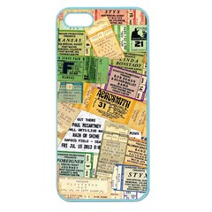 Retro Concert Tickets Apple Seamless Iphone 5 Case (color) by StuffOrSomething