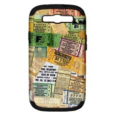 Retro Concert Tickets Samsung Galaxy S Iii Hardshell Case (pc+silicone) by StuffOrSomething