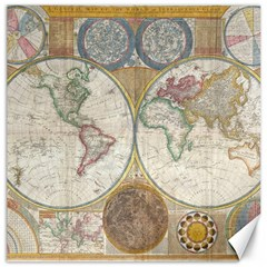 1794 World Map Canvas 12  X 12  (unframed) by StuffOrSomething