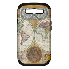 1794 World Map Samsung Galaxy S Iii Hardshell Case (pc+silicone) by StuffOrSomething