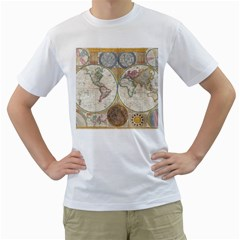 1794 World Map Men s T Shirt (white)