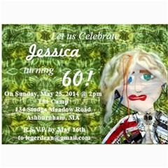 60th Birthday By Nadine   5  X 7  Photo Cards   8kgkpnnsprz1   Www Artscow Com 7 x5 Photo Card - 8
