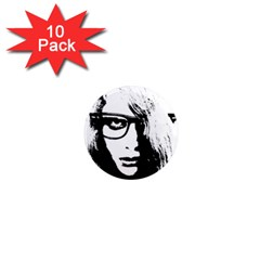 Hipster Zombie Girl 1  Mini Button Magnet (10 Pack) by chivieridesigns