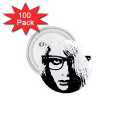 Hipster Zombie Girl 1 75  Button (100 Pack) by chivieridesigns