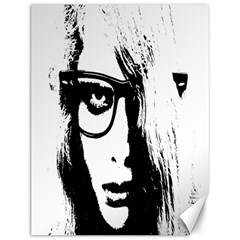 Hipster Zombie Girl Canvas 12  X 16  (unframed)