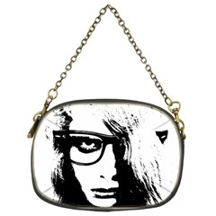 Hipster Zombie Girl Chain Purse (two Sided)  by chivieridesigns