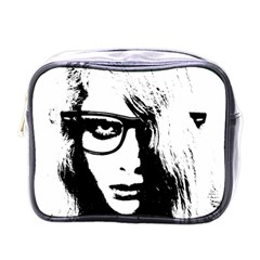 Hipster Zombie Girl Mini Travel Toiletry Bag (One Side)
