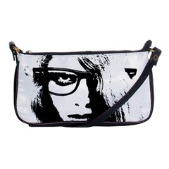 Hipster Zombie Girl Evening Bag by chivieridesigns