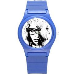 Hipster Zombie Girl Plastic Sport Watch (small) by chivieridesigns