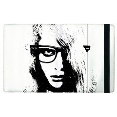 Hipster Zombie Girl Apple Ipad 3/4 Flip Case by chivieridesigns