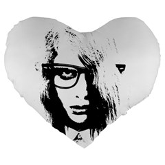 Hipster Zombie Girl 19  Premium Heart Shape Cushion by chivieridesigns
