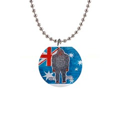Big Foot A, Australia Flag Button Necklace