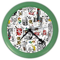 Medieval Mash Up Wall Clock (Color)