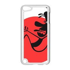 Running Man Apple iPod Touch 5 Case (White) by StuffOrSomething