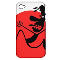 Running Man Apple Iphone 4/4s Hardshell Case (pc+silicone) by StuffOrSomething