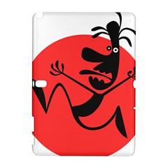 Running Man Samsung Galaxy Note 10 1 (p600) Hardshell Case by StuffOrSomething
