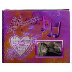 Love Song Xxxl Cosmetic Bag By Joy Johns   Cosmetic Bag (xxxl)   Ns1z1r798pre   Www Artscow Com Front