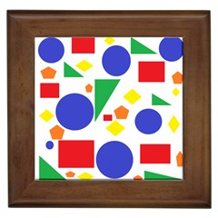 Random Geometrics Framed Ceramic Tile by StuffOrSomething