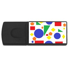 Random Geometrics 4gb Usb Flash Drive (rectangle) by StuffOrSomething