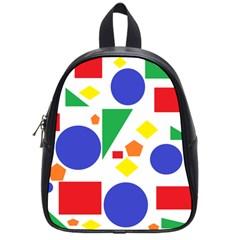 Random Geometrics School Bag (small) by StuffOrSomething