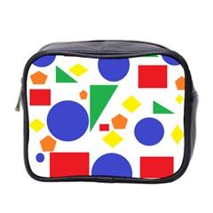 Random Geometrics Mini Travel Toiletry Bag (Two Sides) by StuffOrSomething