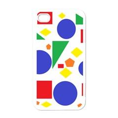 Random Geometrics Apple Iphone 4 Case (white) by StuffOrSomething