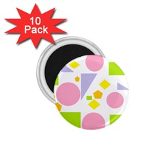 Spring Geometrics 1 75  Button Magnet (10 Pack) by StuffOrSomething