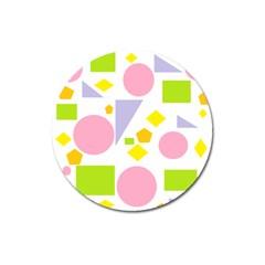Spring Geometrics Magnet 3  (round) by StuffOrSomething