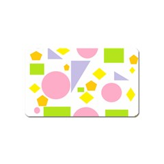 Spring Geometrics Magnet (name Card) by StuffOrSomething
