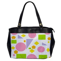Spring Geometrics Oversize Office Handbag (one Side) by StuffOrSomething