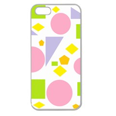 Spring Geometrics Apple Seamless Iphone 5 Case (clear) by StuffOrSomething