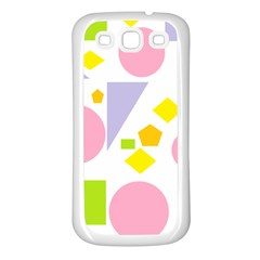 Spring Geometrics Samsung Galaxy S3 Back Case (white) by StuffOrSomething