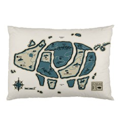 Map of the Swine Islands Pillow Case (Two Sides) by Contest1897862