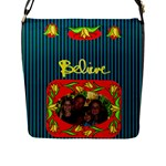 Believe Flap Closure Messenger Bag, large - Flap Closure Messenger Bag (L)