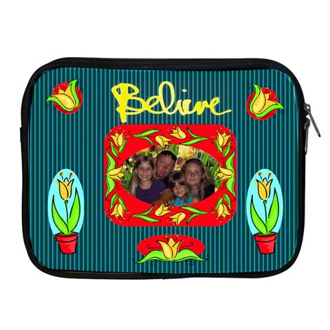 Believe Applie Ipad Zipper Case By Joy Johns   Apple Ipad 2/3/4 Zipper Case   M0xiw5neybbt   Www Artscow Com Front