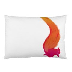 Fiery Squirrel Pillow Case (Two Sides) by Contest1736614