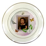 butterfly plate - Porcelain Plate