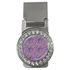 Purple Paisley Money Clip (cz) by StuffOrSomething