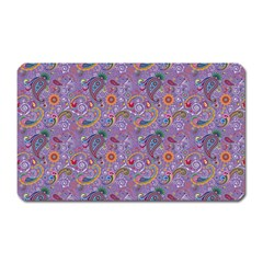 Purple Paisley Magnet (rectangular) by StuffOrSomething