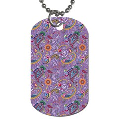 Purple Paisley Dog Tag (Two-sided)