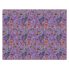 Purple Paisley Jigsaw Puzzle (rectangle) by StuffOrSomething
