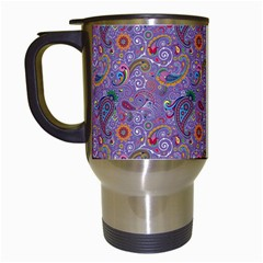 Purple Paisley Travel Mug (white) by StuffOrSomething