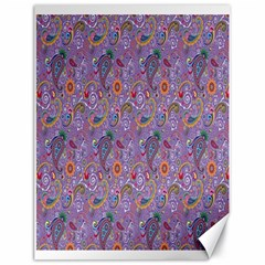 Purple Paisley Canvas 18  X 24  (unframed) by StuffOrSomething