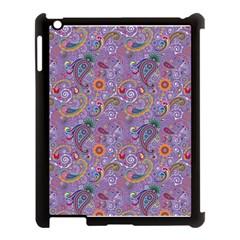 Purple Paisley Apple Ipad 3/4 Case (black) by StuffOrSomething
