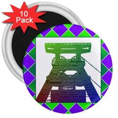 Mine 3  Button Magnet (10 Pack) by Siebenhuehner