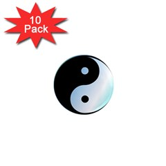 Ying Yang  1  Mini Button Magnet (10 Pack) by Siebenhuehner